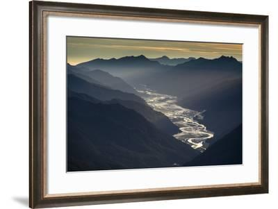 The Arawhata River in Mount Aspiring National Park-Michael Melford-Framed Photographic Print