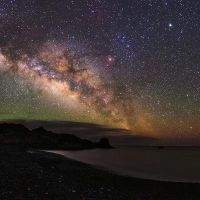 The Arc of the Milky Way Rises Above the Shores of the Atlantic Ocean-Babak Tafreshi-Photographic Print