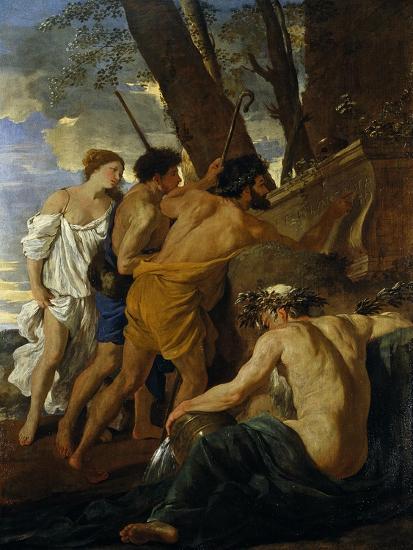 The Arcadian Shepherds-Nicolas Poussin-Giclee Print