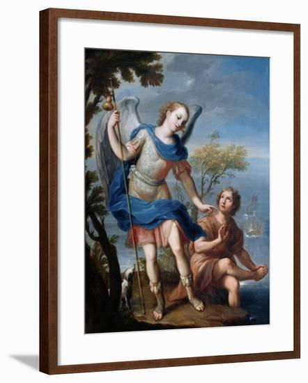 The Arcangel Raphael and Tobias-Miguel Cabrera-Framed Giclee Print