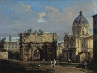 The Arch of Septimus Severus in Rome-Canaletto-Giclee Print