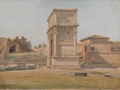 The Arch of Titus in Rome, 1839-Carl-Christian-Constantin Hansen-Giclee Print