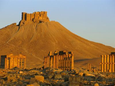 The Archaeological Site and Arab Castle, Palmyra, Unesco World Heritage Site, Syria, Middle East-Sylvain Grandadam-Photographic Print