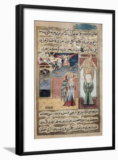 The Archangel Gabriel Inspiring Mohammed in the Mosque of Medina--Framed Giclee Print