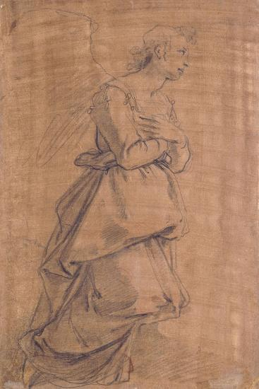 The Archangel Gabriel Kneeling to the Right, Study for an Annunciation-Jacopo Chimenti Empoli-Giclee Print