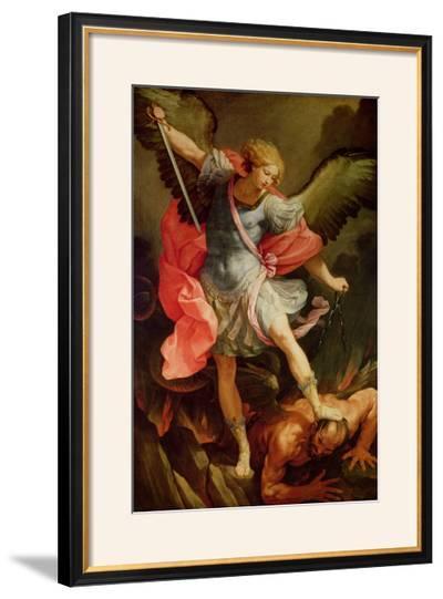 The Archangel Michael Defeating Satan-Guido Reni-Framed Giclee Print