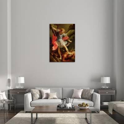 The Archangel Michael Defeating Satan Giclee Print by Guido Reni ...