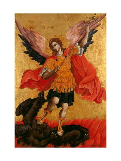 The Archangel Michael, Second Half of the 17th C-Theodore Poulakis-Giclee Print