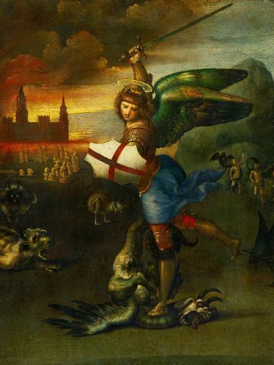 The Archangel Michael Slaying the Dragon-Raphael-Giclee Print