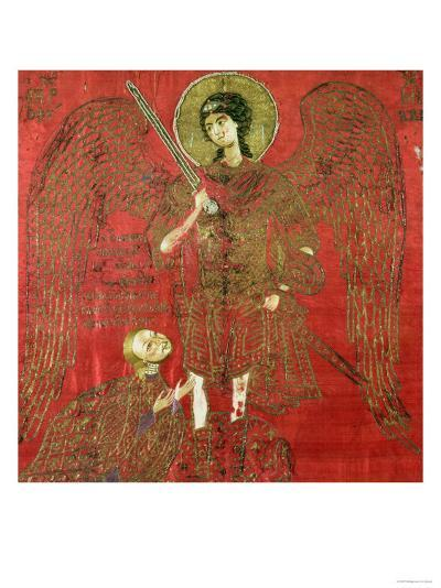 The Archangel Michael with Manuel II Palaeologus, Emperor of the Eastern Roman Empire--Giclee Print