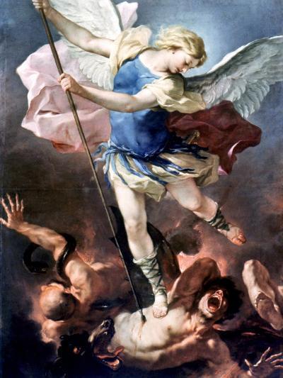 The Archangel Michael-Luca Giordano-Giclee Print