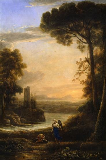 The Archangel Raphael and Tobias, 1639-1640-Claude Lorraine-Giclee Print