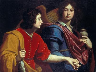 The Archangel Raphael with Tobias, 1740s-Lorenzo Lippi-Giclee Print