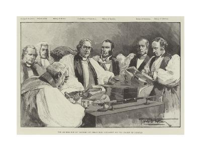 The Archbishop of Canterbury Delivering Judgment on the Bishop of Lincoln-Thomas Walter Wilson-Giclee Print