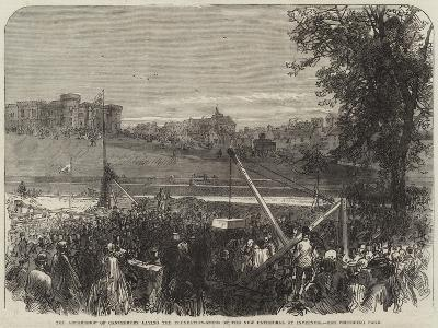 The Archbishop of Canterbury Laying the Foundation-Stone of the New Cathedral at Inverness--Giclee Print