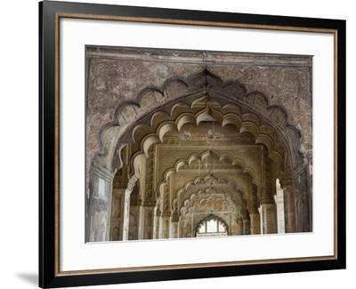 DELHI, INDIA - MARCH 15, 2019: Red Fort`s Diwan-i-khas In