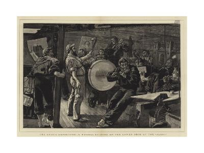 The Arctic Expedition, a Musical Evening on the Lower Deck of the Alert-William Small-Giclee Print