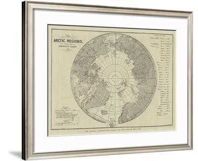 The Arctic Expedition, Chart of the Polar Regions--Framed Giclee Print