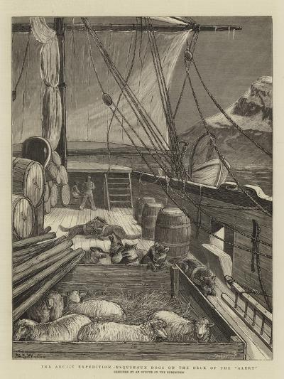 The Arctic Expedition, Esquimaux Dogs on the Deck of the Alert-Samuel Edmund Waller-Giclee Print