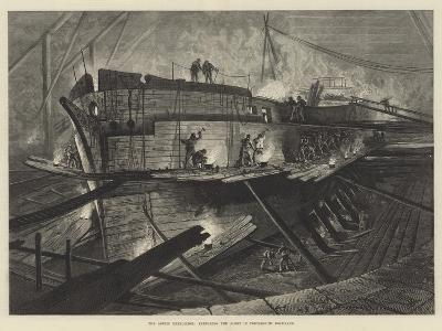 The Arctic Expedition, Preparing the Alert in Portsmouth Dockyard--Giclee Print