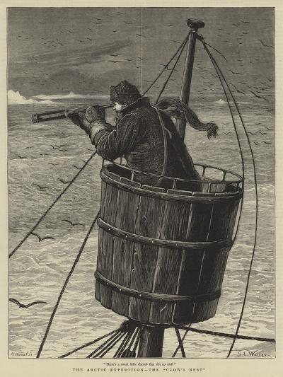 The Arctic Expedition, the Crow's Nest-Samuel Edmund Waller-Giclee Print