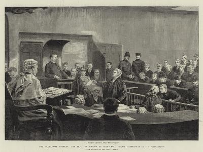 The Ardlamont Mystery, the Trial of Monson at Edinburgh, Major Hambrough in the Witness-Box--Giclee Print