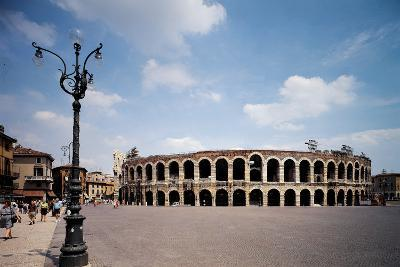 The Arena Or Roman Amphitheatre in Verona, 1st Century, Marble and Brick--Photographic Print