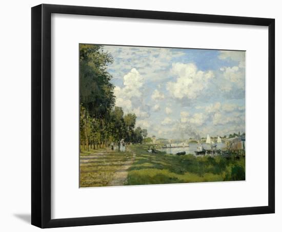 The Argenteuil Basin-Claude Monet-Framed Giclee Print