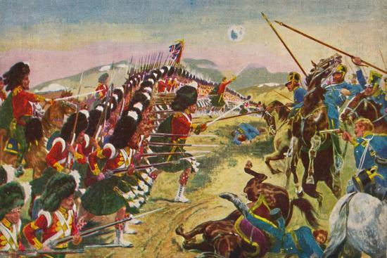 'The Argyll & Sutherland Highlanders. The Thin Red Line at Balaclava', 1854, (1939)-Unknown-Giclee Print