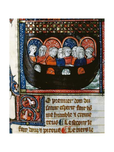 The Ark of Noah, Miniature, Doctrine Chretienne, 13th Century, France--Giclee Print