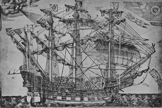 'The Ark Royal', 1588-Unknown-Giclee Print