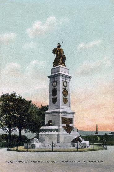 The Armada Memorial, Hoe Promenade, Plymouth, Devon, Early 20th Century--Giclee Print