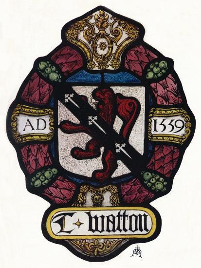 'The Arms of Thomas Watton', c1900, (1936)-Unknown-Giclee Print