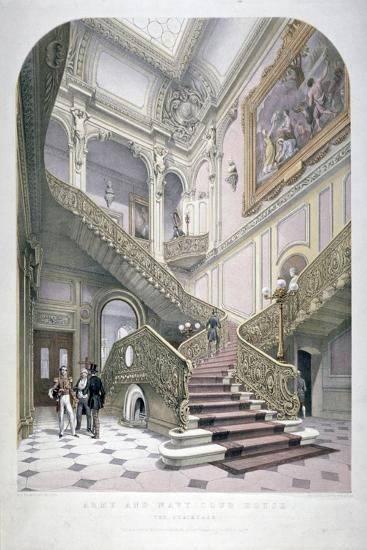The Army and Navy Club, Pall Mall, Westminster, London, 1853-Robert Kent Thomas-Giclee Print