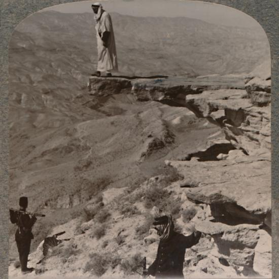 'The Arno. Dragoman standing on rock', c1900-Unknown-Photographic Print