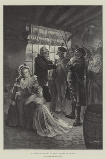The Arrest of Louis XVI and Marie Antoinette at Varennes--Giclee Print