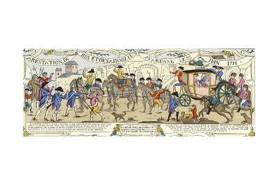The Arrest of Louis XVI of France and His Family, Varennes, 22 June 1791--Giclee Print