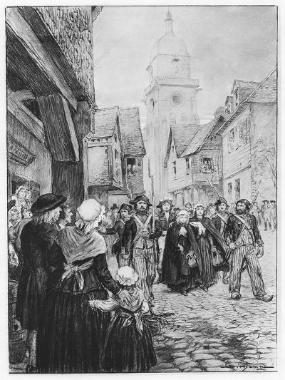 The Arrest of Lucile De Chateaubriand--Giclee Print