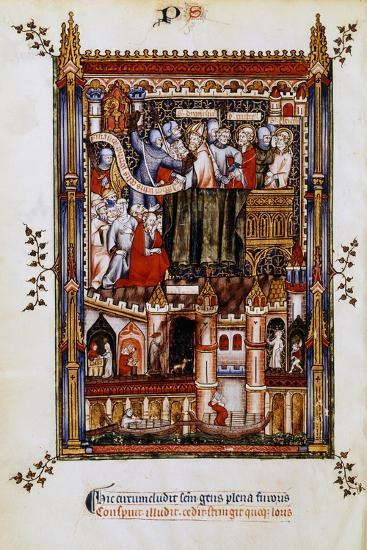 The Arrest of St Denis, 1317--Giclee Print