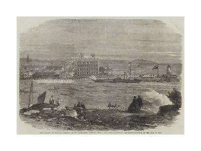 The Arrival in Douglas Harbour of His Excellency Francis Pigott-Thomas Harrington Wilson-Giclee Print