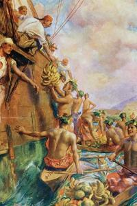 The Arrival of Captain James Cook in Tahiti in 1769