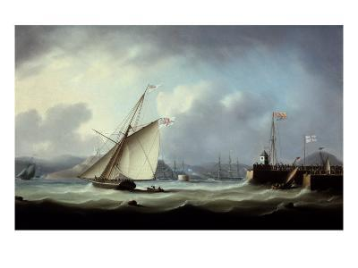 The Arrival of George IV at Leith Harbour-Thomas Buttersworth-Giclee Print