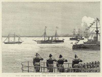 The Arrival of H I M the German Emperor at Port Victoria--Giclee Print