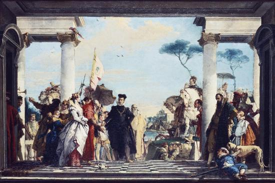 The Arrival of Henri III at the Villa Contarini, before 1750-Giovanni Battista Tiepolo-Giclee Print