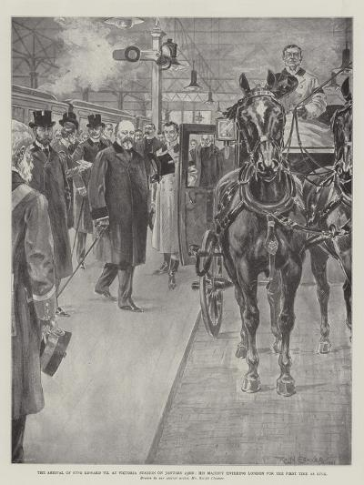 The Arrival of King Edward VII at Victoria Station on 23 January-Ralph Cleaver-Giclee Print