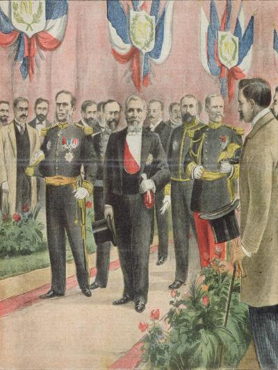 The Arrival of President Loubet in Russia for a State Visit, Cover of 'Le Petit Journal'--Giclee Print