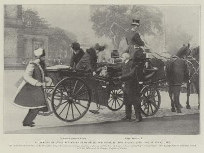 The Arrival of Queen Alexandra in Denmark, 19 September, Her Majesty Alighting at Bernstorff--Giclee Print