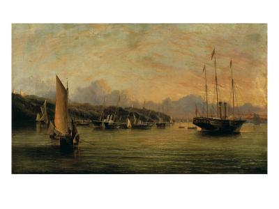 The Arrival of Queen Victoria at Cowes,Isle of Wight, with Osborne House Beyond-Arthur Wellington Fowles-Giclee Print