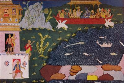 The Arrival of Rama and Sita in the Aerial Car, 1937--Giclee Print