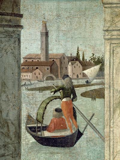 The Arrival of the English Ambassadors, from the St. Ursula Cycle, Detail of a Gondola, 1490-96-Vittore Carpaccio-Giclee Print